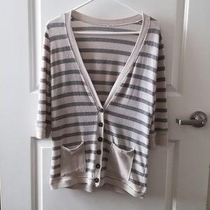 Striped Cardigan Womens